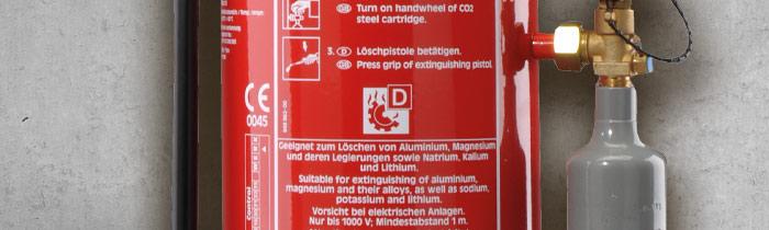 Metallbrand Feuerlöscher